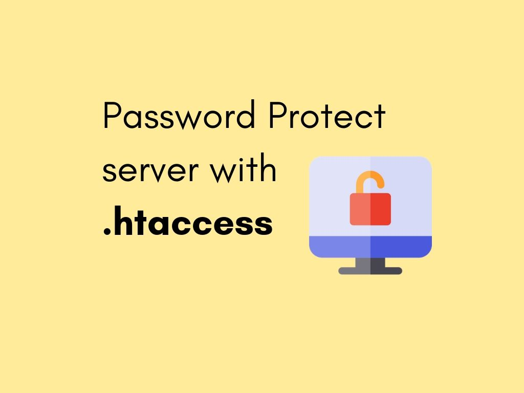 password protect web page using htaccess file