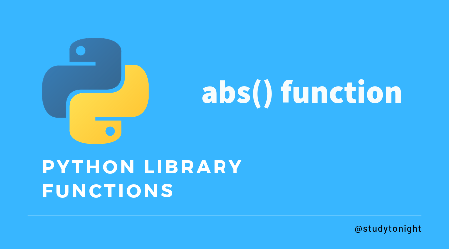 Python abs() method