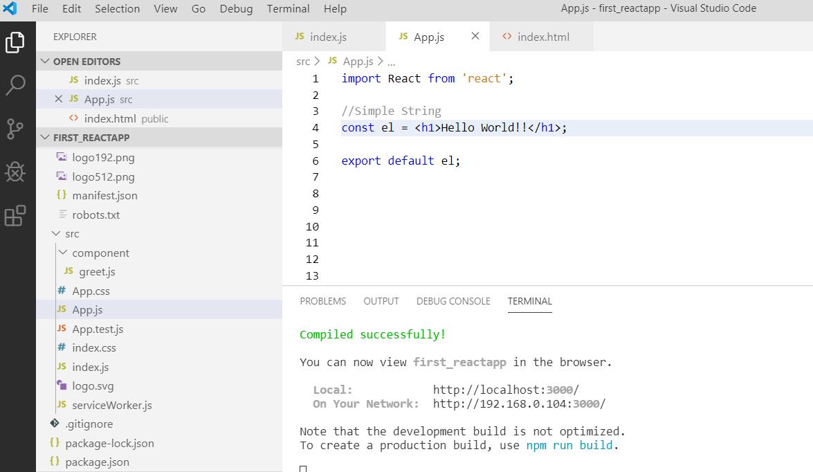Using JSX with ReactJS