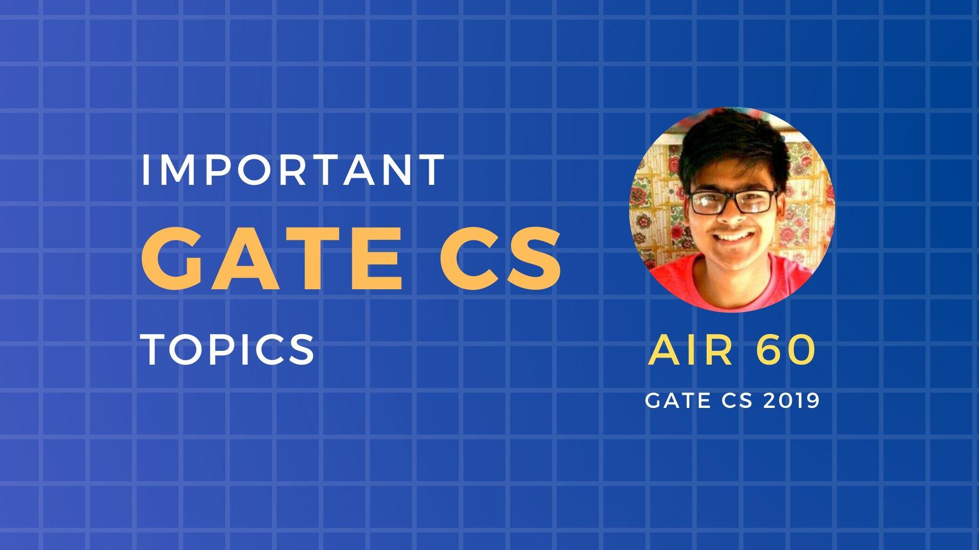 Important gate CS topics
