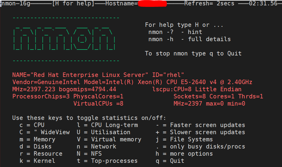 use nmon tool in linux
