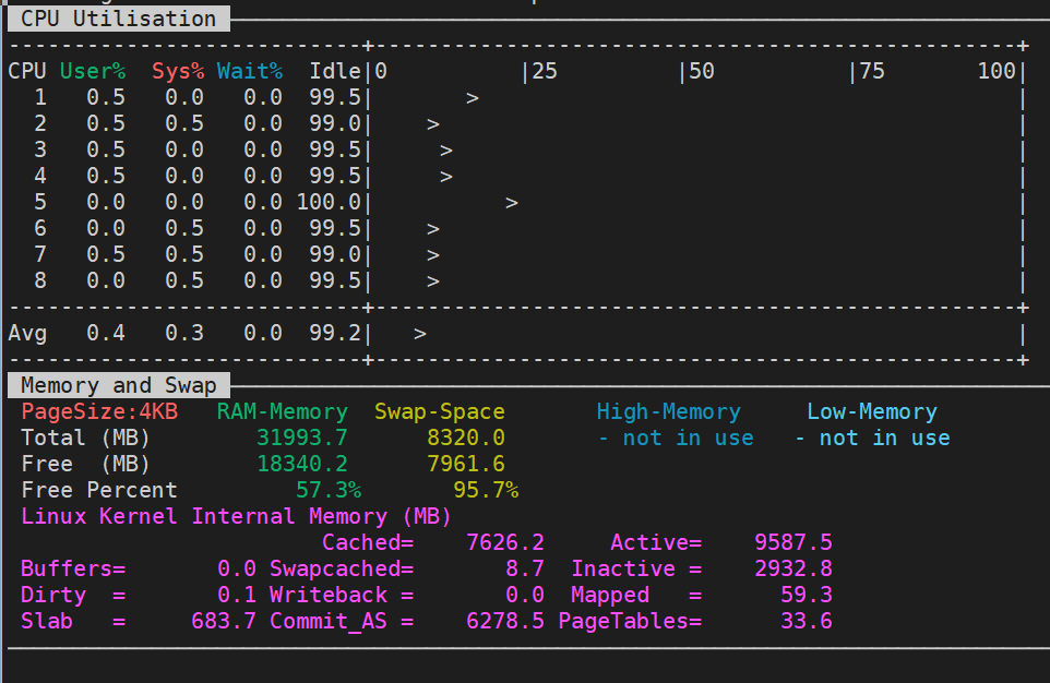 nmon tool for memory usage stats linux