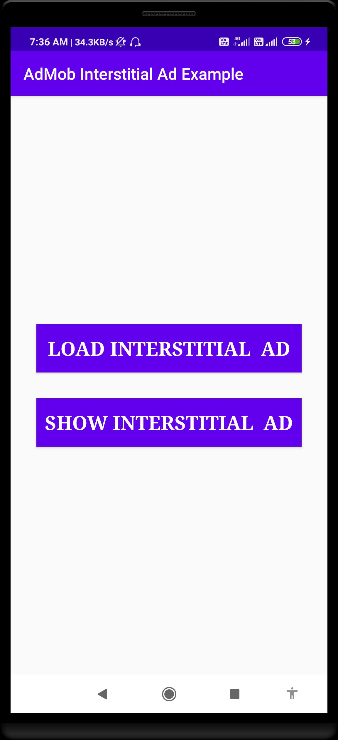 AdMob Interstitial Ad