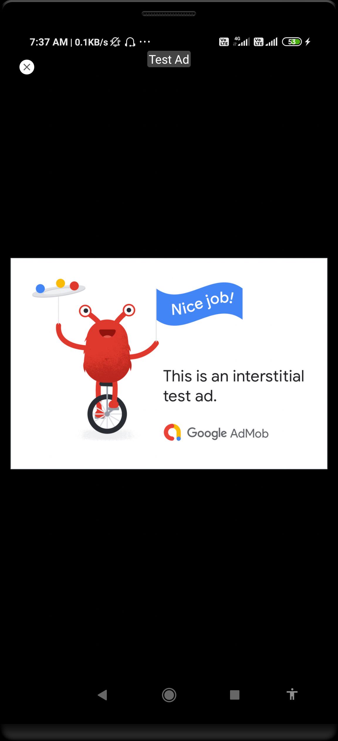 Admob Interstitial