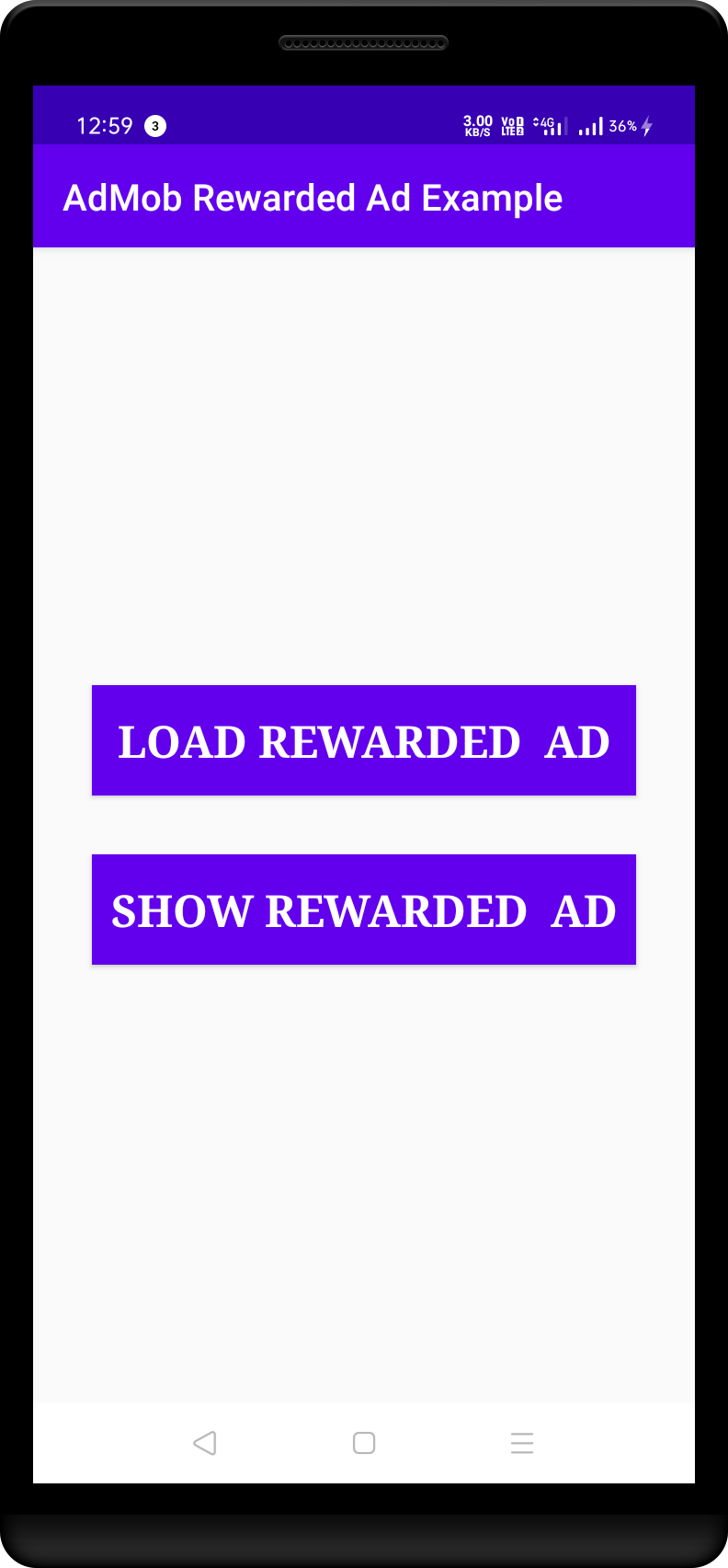 Admob Rewarded Video Ad Example