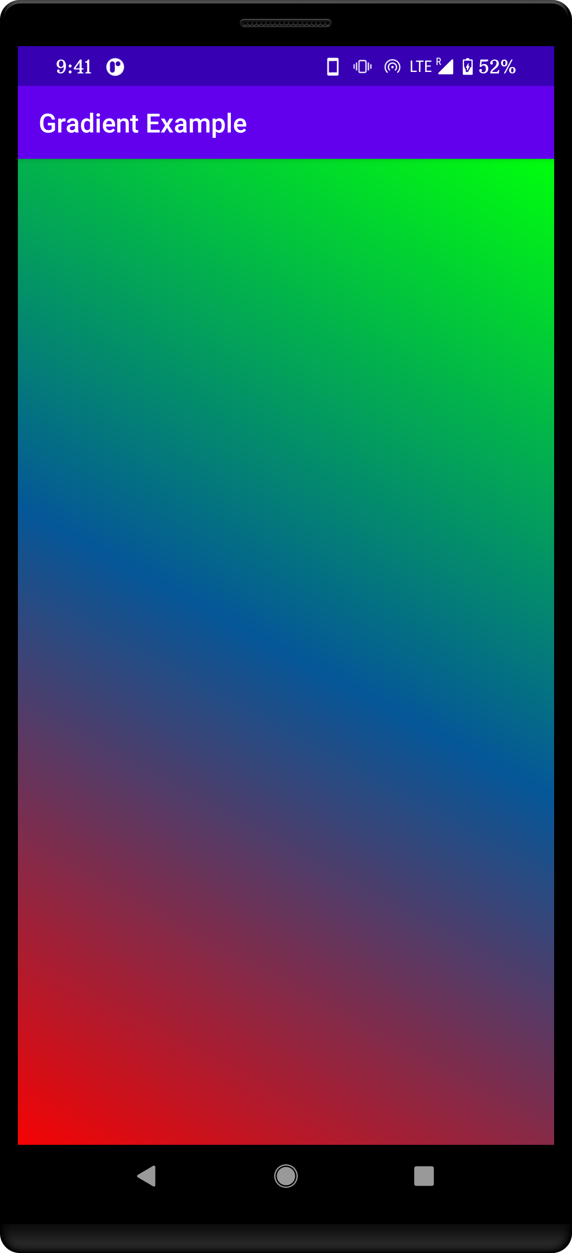 gradient background in Android App