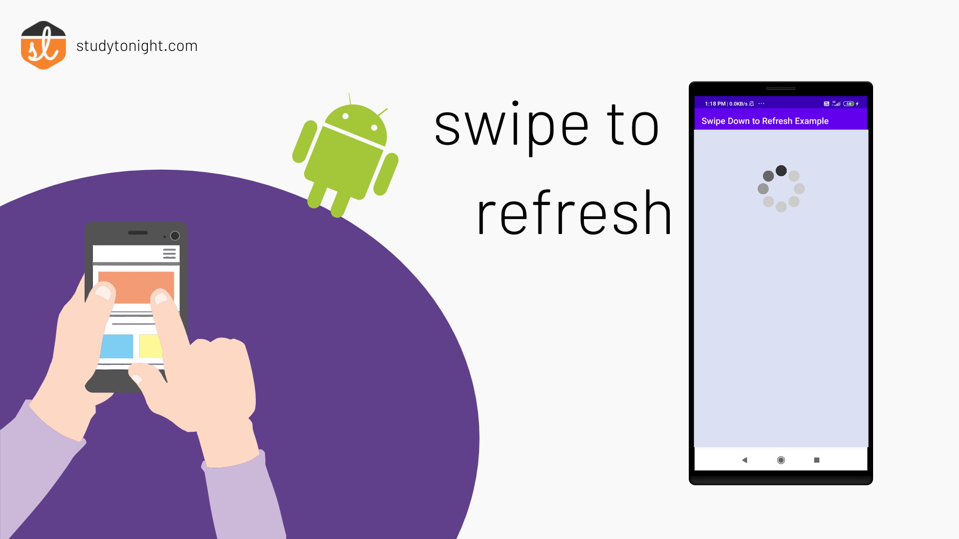 implement swipe down to refresh in Android Code Example