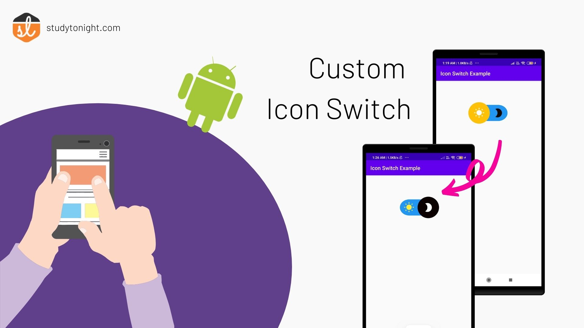 custom icon switch in Android