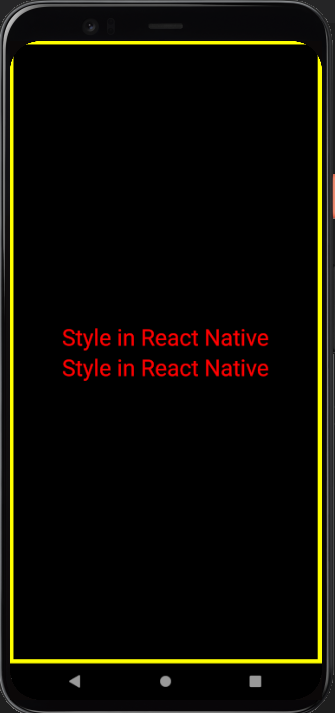 how to apply style in react native