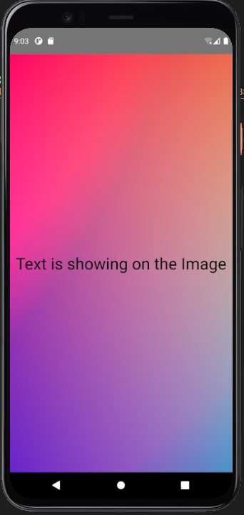 imagebackground component - load an component over an image in react native