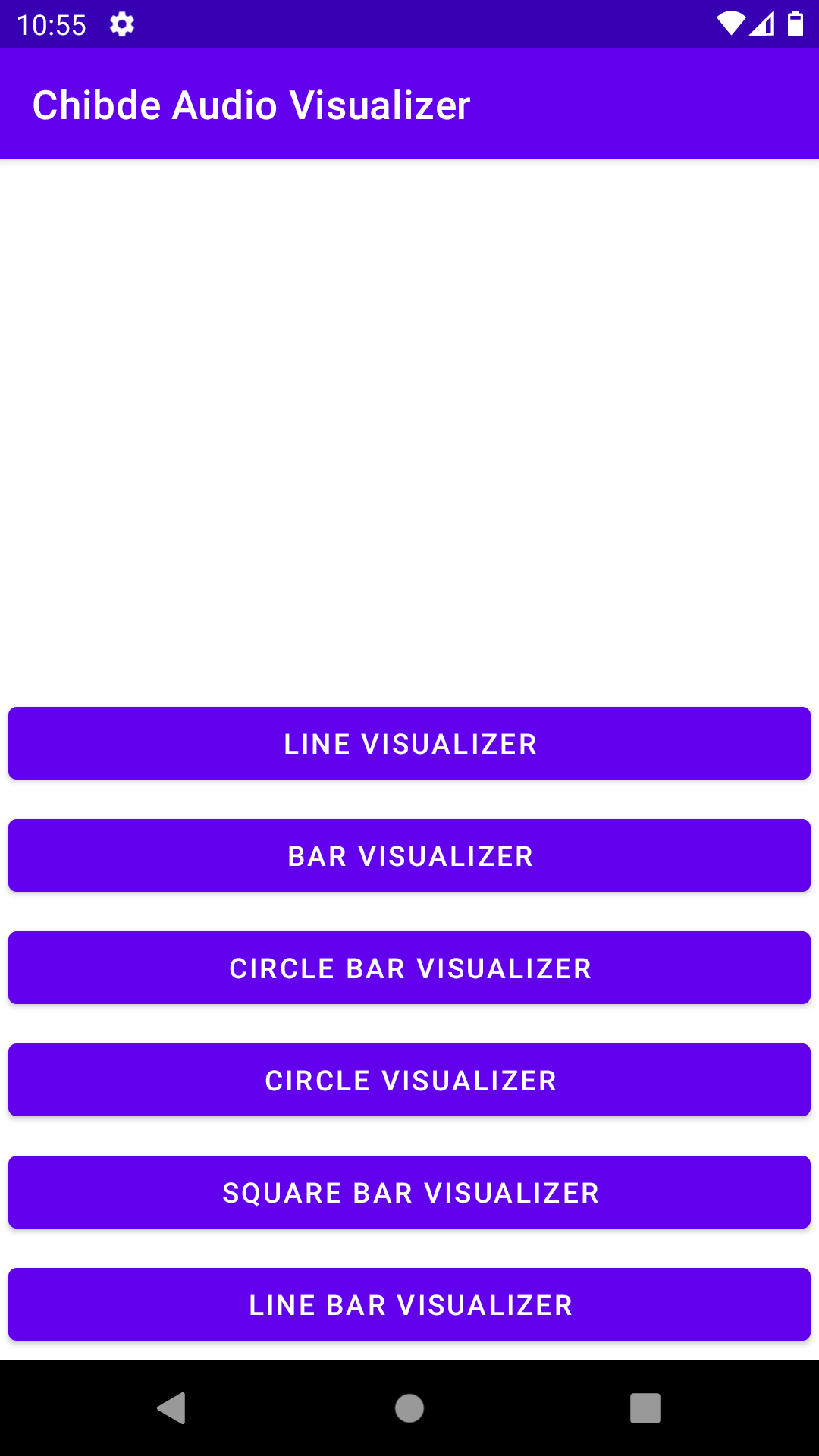 implement audio visualizer in android