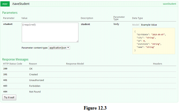 Swagger UI for spring boot REST application