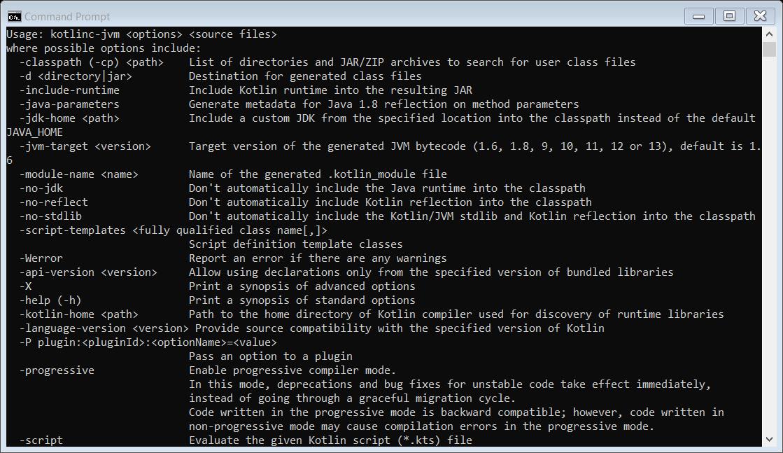 setup command line compiler for Kotlin