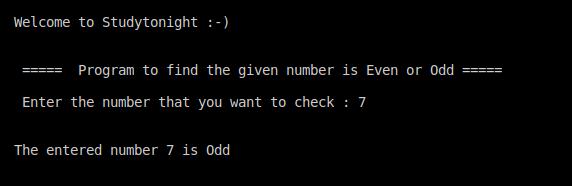 C++ even or odd