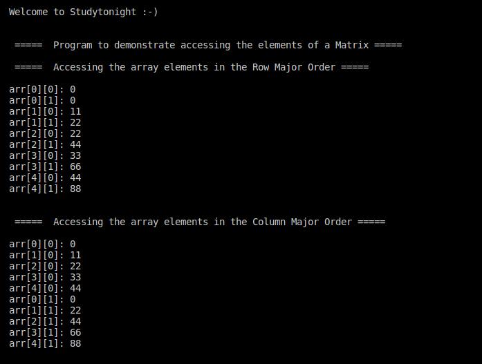 C++ Access array elements
