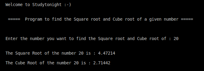 C++ square root and cube root