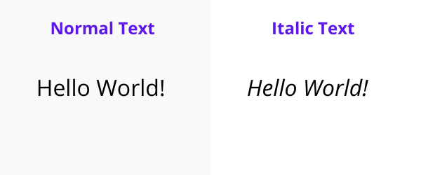 what is italic style