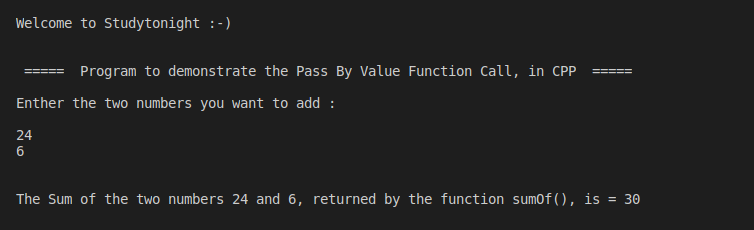 C++ Pass By Value
