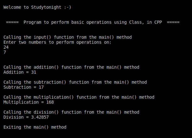 C++ Class operations