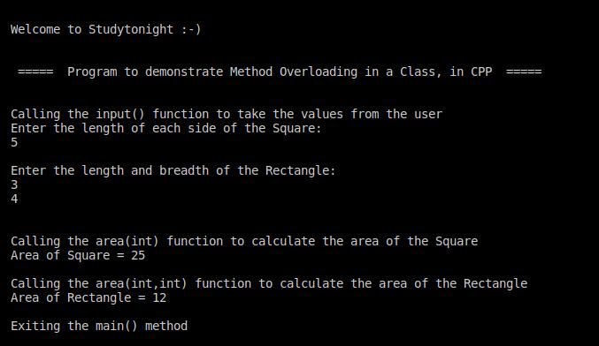 C++ method overloading
