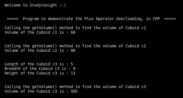 C++ plus operator overloading