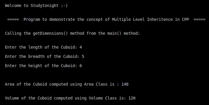C++ multi level inheritence