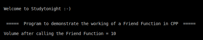 C++ friend function