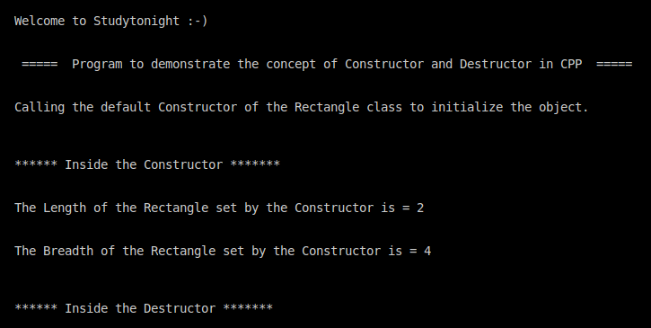 C++ constructor and destructor