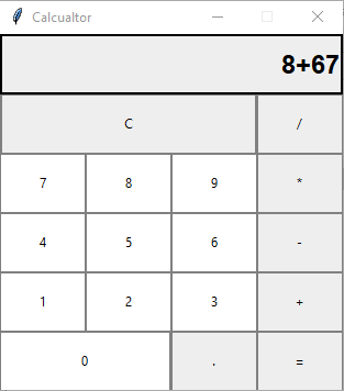 Calculator app with Tkinter