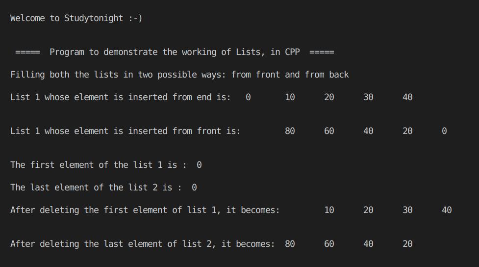 C++ Lists Part 1