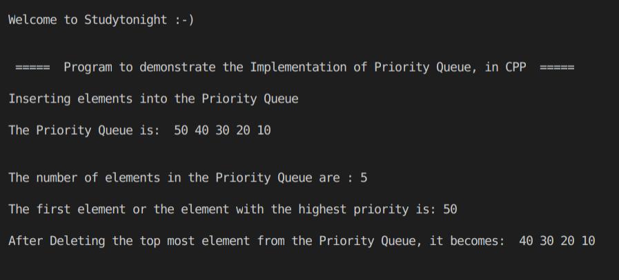 c++ Priority Queue
