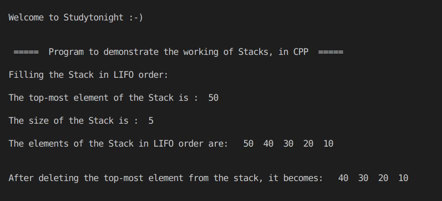 C++ Stack Program