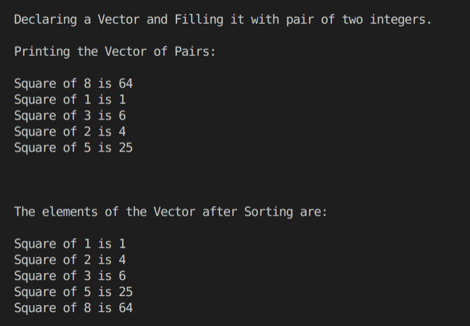 C++ pair template