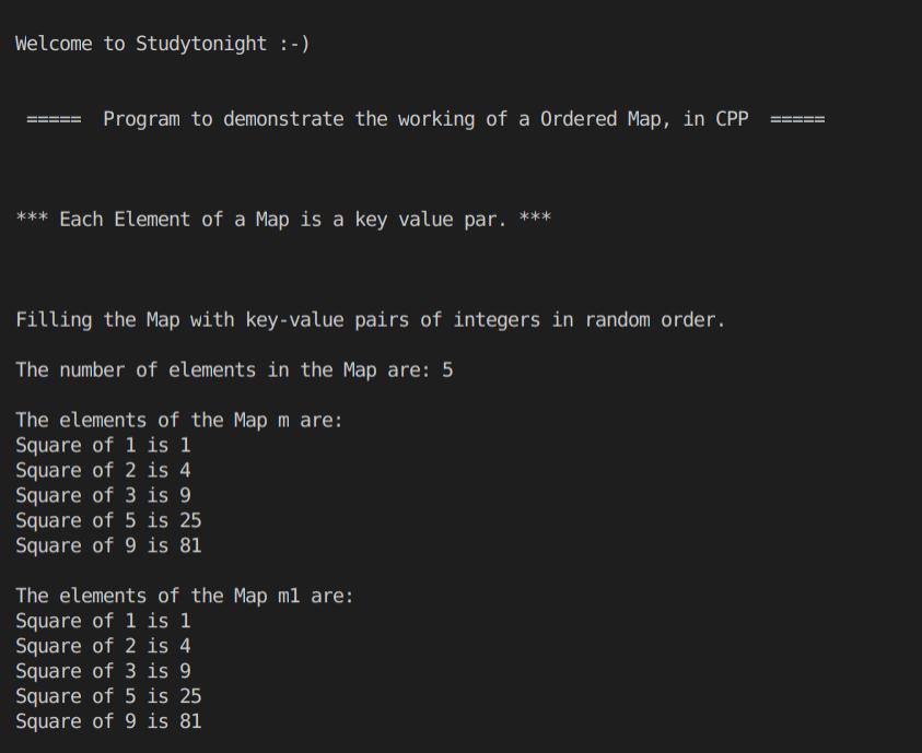 C++ Using Map program