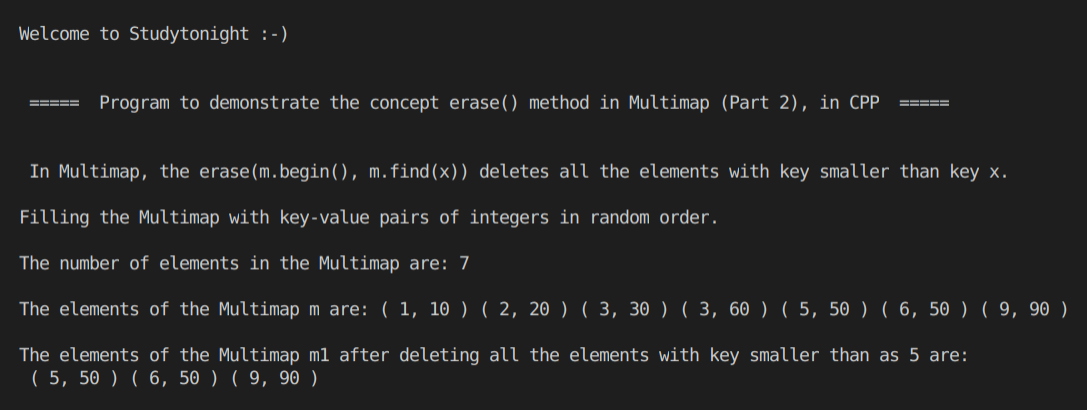 C++ erase() Multimap 2
