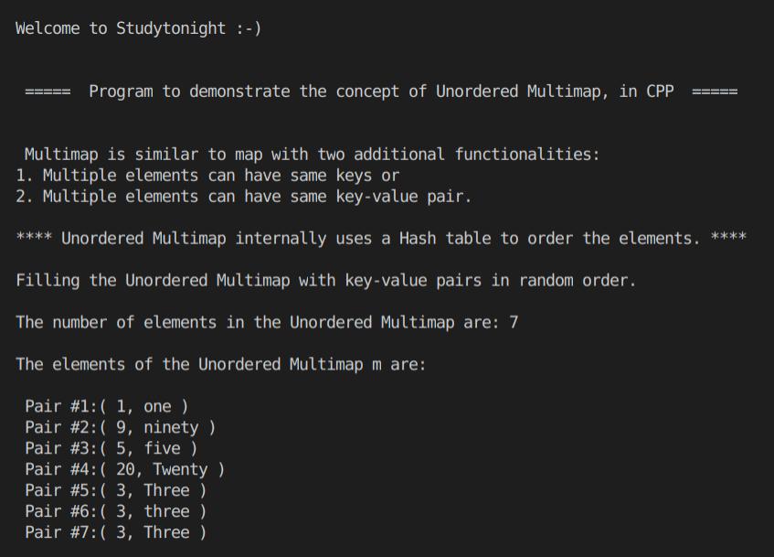 C++ unordered Multimap