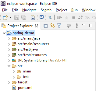 first spring project using maven