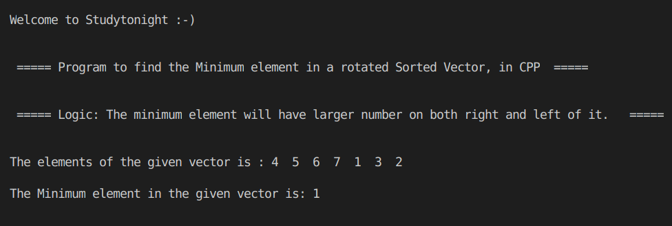 C++ rotated sorted vector