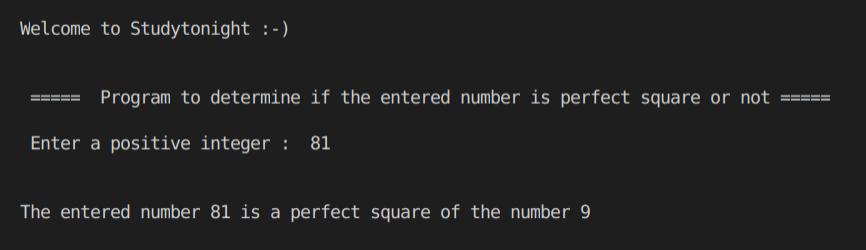C++ perfect square 2