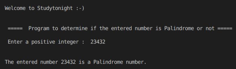 C++  palindrome program output 2