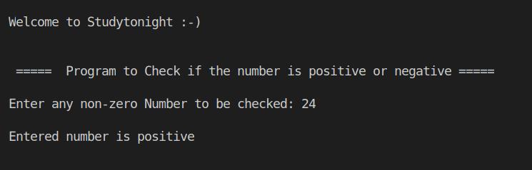 C++ positive or negative