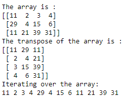 iterate over transpose of ndarray