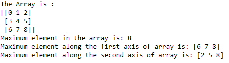 numpy.amax() code example