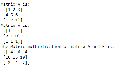 numpy matmul() function code example