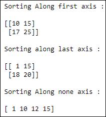 sorting NumPy array