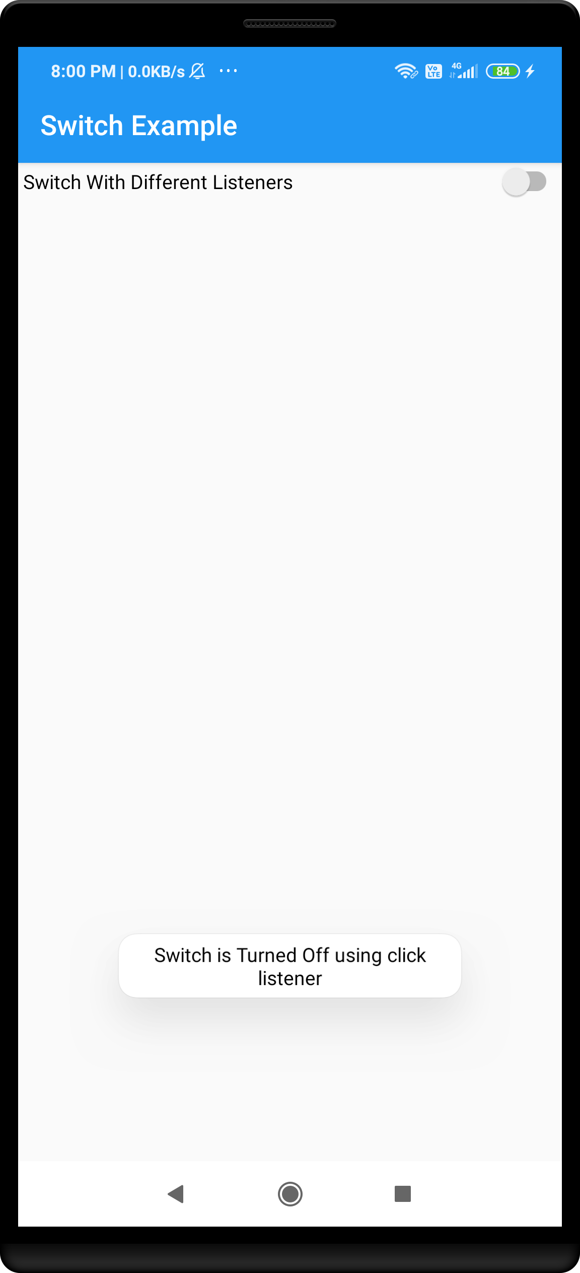 android switch toggle example
