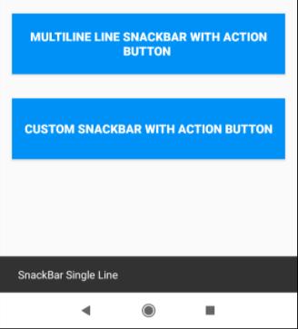 Snackbar in Android app