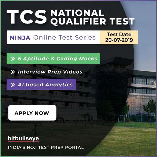 TCS NQT Online Test Series - Hitbullseye