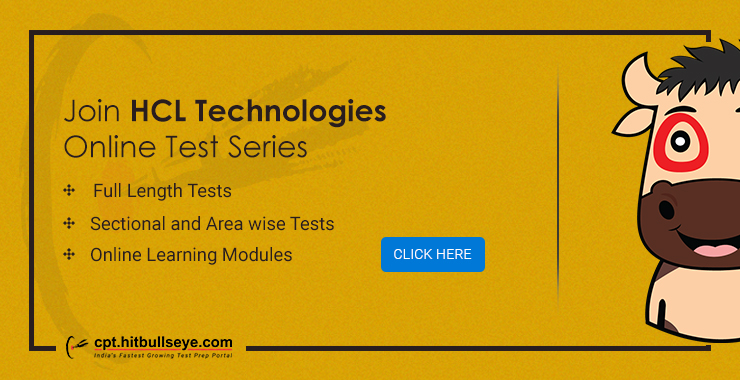 HCL Mock Test | Online Practise Test for HCL Placement