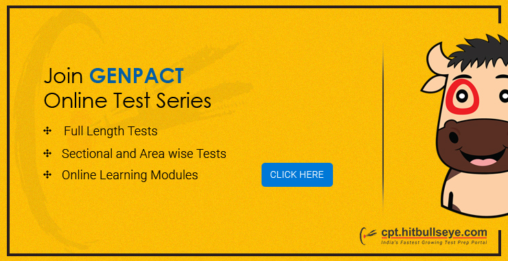 Genpact Mock Test | Online Practice Test for Genpact Placement
